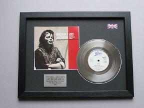 "MICHAEL JACKSON - I Just Cant Stop Loving You 7"" Platinum DISC with cover"